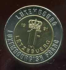 LUXEMBOURG 1 franc    monnaie européenne, Universel Bimétallique jeton
