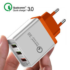 EU Plug Qualcomm 3.0 Quick Charge 3Port USB Wll Travel Fast Charger Adapter