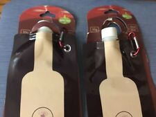 2 Outdoor Expression Reusable Foldable ,Flexible, Wine Bottle, Flask, Holds 26OZ