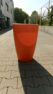 Blumenkübel, Vase orange 66,5 cm Kunststoff