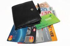 Designer Mens Leather Wallet safe senza contatto blocco carta ID protezione SW106