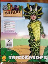 Rubie's Toddler Triceratops Plush Costume 2-3-4 years Small Dinosaur Halloween