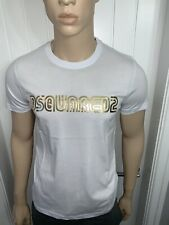 Men's Dsquared White/gold Tshirt Bargain Price £39.99 Medium