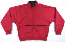 Nike Golf Clima Fit Full Zip Vented Zip Pockets Red Windbreaker Mens Jacket M