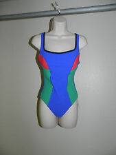 GOTTEX 1PC ONE PIECE SWIMSUIT WOMENS SIZE 14 BLUE RED GREEN NWT $178