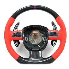 Carbon Fiber Gear DSG Steering Wheel Paddle Shifter Cover Fit For A6 09-11