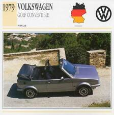 1979 VOLKSWAGEN VW GOLF Classic Car Photograph / Information Maxi Card