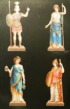 Victorian Die Cut Scrap Scraps Embossed Victorian Women European Roman/Greek #2