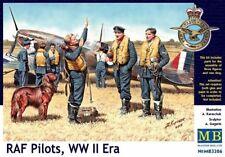 MAS3206 - Masterbox 1:32 SCALE - RAF Pilots, WW II Era Model Kit figures