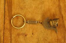 Ancient Greek Themed Keyring - Warrior's Helmet Snake Crest design Gold Zamac