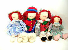 Madelaine Doll Collection Of Four, Eden Toys, Skiing, Baking, Classic