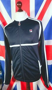 Fila Tracksuit Top - M/L - Navy - Mod Casuals 60's