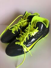 Nike Speed Lax 4 Lacrosse Cleats Dual-Pull Anthracite/Volt 616297-007