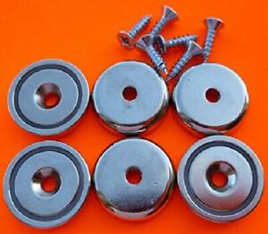 Super Strong Cup Magnets 6 Piece Round Base Magnet Pull Force Magnetic 90 Lbs