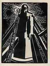 Un golem-creación & fuga-Frans Masereel 5 original madera cortes 1927