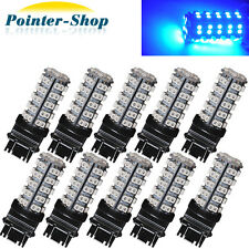 10x 3157 LED Bulbs Hyper Blue DRL 68-SMD Daytime Running Light 4114 4157NA 3457A