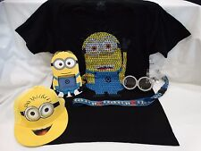 UNIVERSAL STUDIOS DESPICABLE ME T-SHIRT, PICTURE FRAME, HAT, GLASSES,  & LANYARD