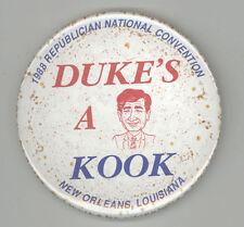 1988 RNC ANTI MICHAEL MIKE DUKAKIS PRESIDENT Political PIN Button PINBACK Badge