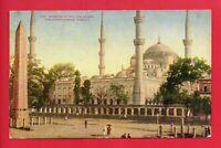 MOSQUE OF SULTAN AHMID CONSTANTINOPLE TURKEY  POSTCARD