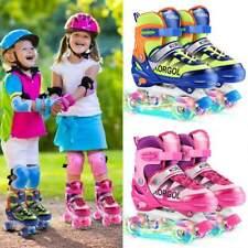 Roller Skates for Girls Boys and Kids, 4 Size Adjustable Toddler Roller Skates S
