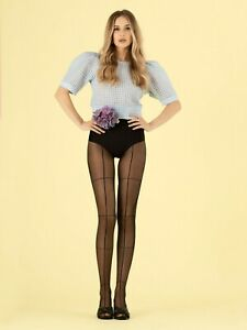 Fiore Tate Modern Large Grid Patterned Tights 8 Denier T band style STW