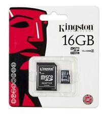 MICRO SDHC 16GB KINGSTON + adattatore SD x lettori MP3 cellulari Samsung 16 GB