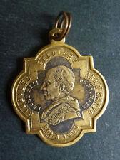 Médaille pendentif  religieux Pape Léon XIII Roma 1900 medal