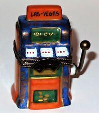 LIMOGES BOX - ANTIQUE SLOT MACHINE - LAS VEGAS ONE-ARMED BANDIT - CARD SUITS