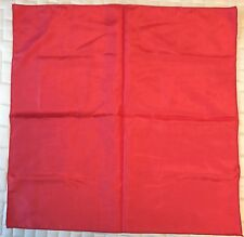 391a5e5b4f523 Vintage Men's Pocket Square Pocket Hanky Red No Labels Nice Fabric As Is  See Pic