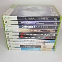 XBOX 360 10 Game Lot Tested Assassin's Creed Gears Of War COD Dynasty Warriors