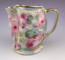 Antique Royal Bayreuth Rose Tapestry Pinch Spout Pitcher Creamer