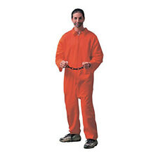 Mens Orange Jumpsuit Jailbird Costume, One Size Standard Adult | FORUM NOVELTIES