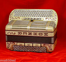 AUTHENTIC ABSOLUTE UNIQUE BUTTON ACCORDION HOHNER MORINO ARTISTE II N CASSOTTO!