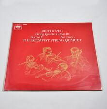LP: Beethoven String Quartets Opus 18 (CBS 72000) the Budapest String Quartet