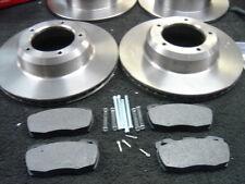 Defender 110 2.5 Td5 Front /& Rear Brake Pads Discs Kit 298mm 298mm 120 04//98