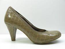 Sam & Libby Brown Faux Patent Crocodile Print High Heel Pumps Shoes 6M MSRP $79