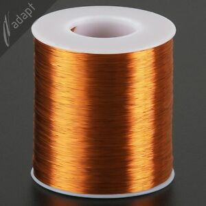 33 AWG Gauge Magnet Wire Natural 6200' 200C Enameled Copper Coil Winding