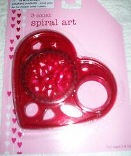NEW PACK OF 3 SPIRAL ART FAVORS * Heart shaped Frame Classic Paper Art Plastic *