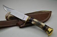 440 er Edelstahl Jagdmesser Hirschhorn Damast Damastmesser Messer Jagdmesser #18