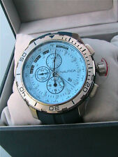 NIB Nautica Men's NST 101 Stainless Steel Watch Blue Tint Crystal NAD19520 $185