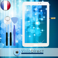 "Vitre ecran tactile pour Samsung Galaxy Tab 3 Lite 7.0"" T111 blanc + outils"
