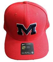 Nike SEC Red Ole Miss Rebels NCAA Dri Fit OSFA Strapback Trucker Hat Cap NEW