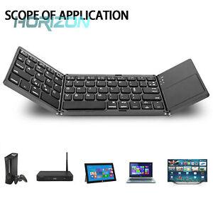Foldable Bluetooth Keyboard With Touchpad USB Charging Wireless Keyboard