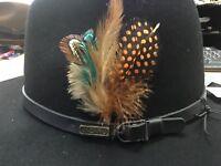 1 feather for  hats man woman Kangol Stetson Akubra  straw hat feathers