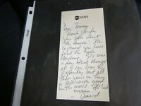 David Wright Hand Signed Letter NY Mets