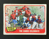 Charlie James Signed 1965 Topps Baseball Card #139 Cardinals WS Auto Autograph 1