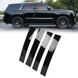 Black Pillar Posts for Cadillac Escalade 07-14 4pc Set Door Trim Cover Kit
