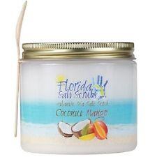 Florida Salt Scrubs Coconut Mango Body Feet Hands Bath Salt Scrub 24.2 oz Jar