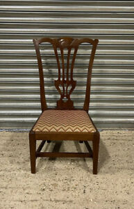 19th Century Mahogany Chippendale Style Childs Chair With Drop In Seat