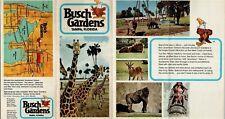 Vintage Busch Gardens Brochure - B1